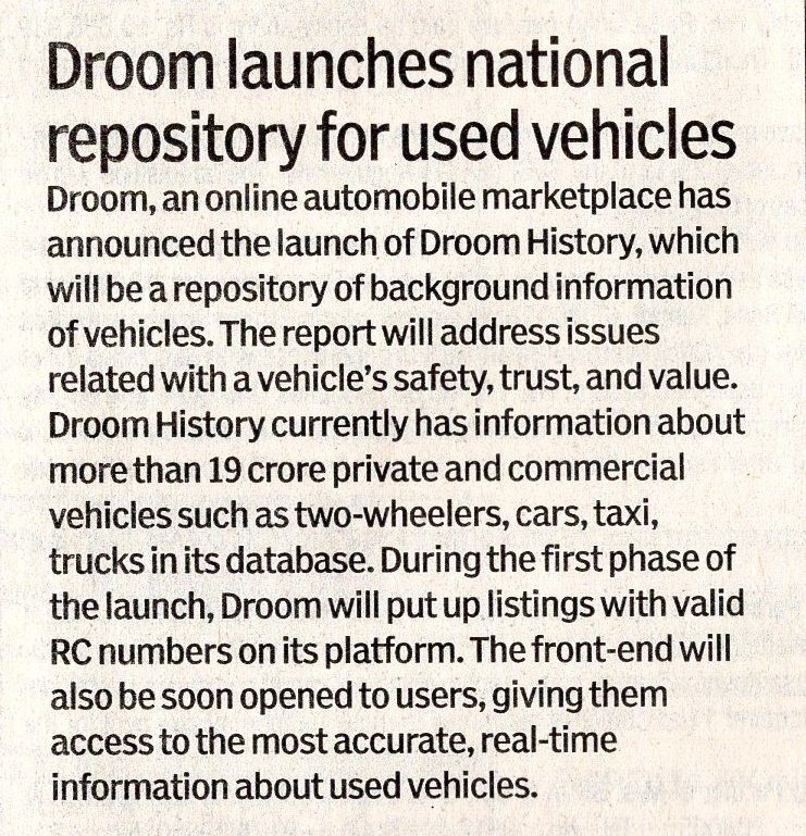 Financial Express | Droom in news