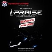 Okinawa i-Praise Scooter Pre-Bookings Commence