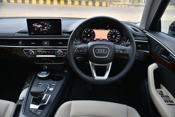 Like all Audis, the A4's cabin is fastidiously put together.