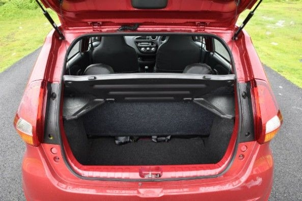 Boot space is 222 litres