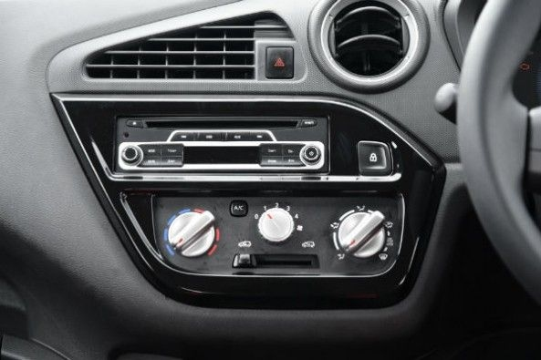No touchscreen, only a basic audio system,