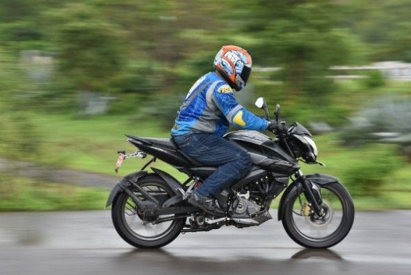 The bike feels composed even at speed.