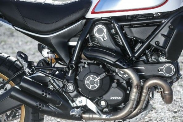 The 803cc, two-cylinder engine makes 73hp.