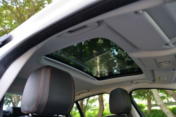 Sunroof makes cabin feel airy
