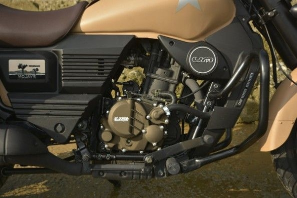 The 279.5cc, single-cylinder engine in the Mojave.