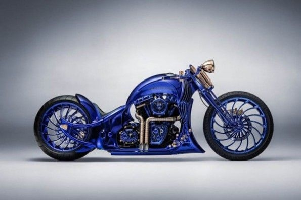 Harley-Davidson showcases Blue Edition in Zurich.