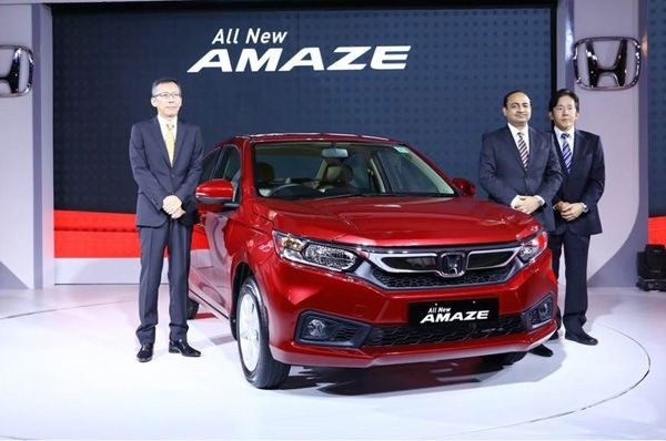Honda launches its new Amaze in India
