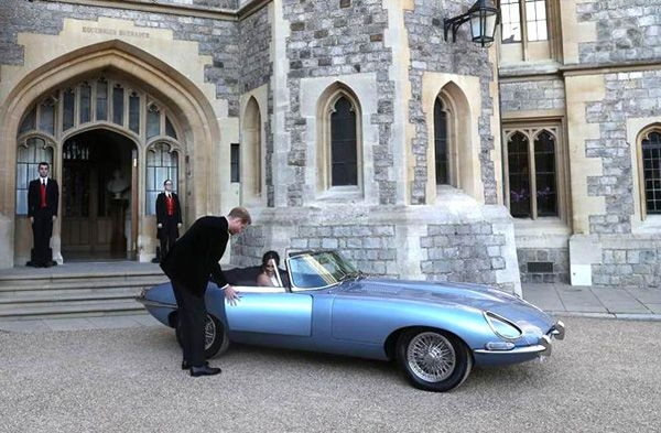 Jaguar E-type EV ferries royal couple at Royal Wedding