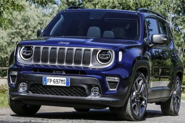 Jeep shows images of Renegade.
