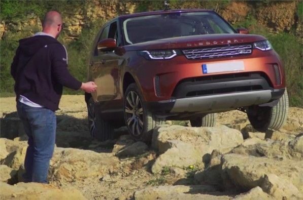 Land Rover shows off-road auto tech.
