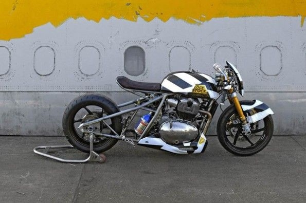 Full fledged drag bike.