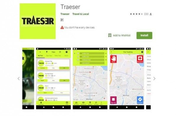 The Traeser app allows you to plan and track group rides conveniently and is free to use.