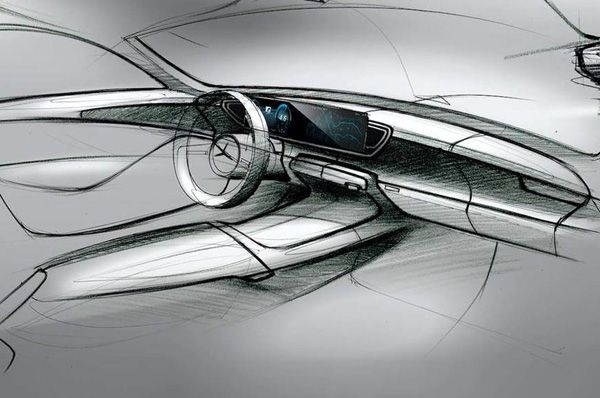 Sketches of the next-gen Mercedes GLE interior revealed