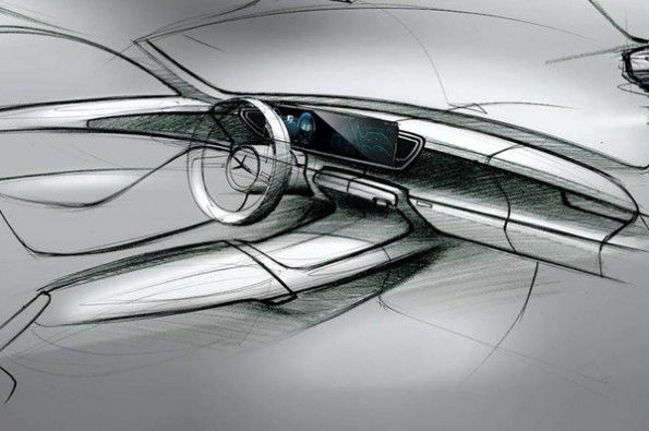 Sketches of the next-gen Mercedes.