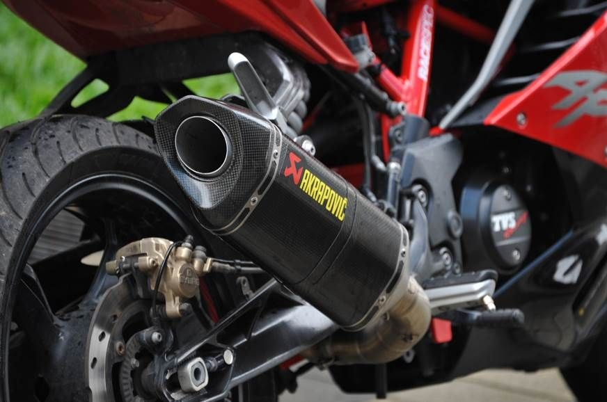 Aftermarket exhaust from Akrapovic for TVS Apache RR 310 on sale