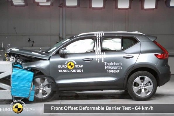 Five-star rating in Euro NCAP for XC40.