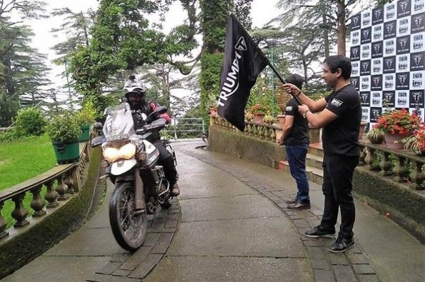 Triumph kicks off its Tiger Trails 2.0 ride event.