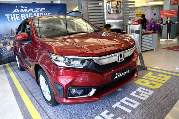 The new Amaze sets monthly sales record for Honda
