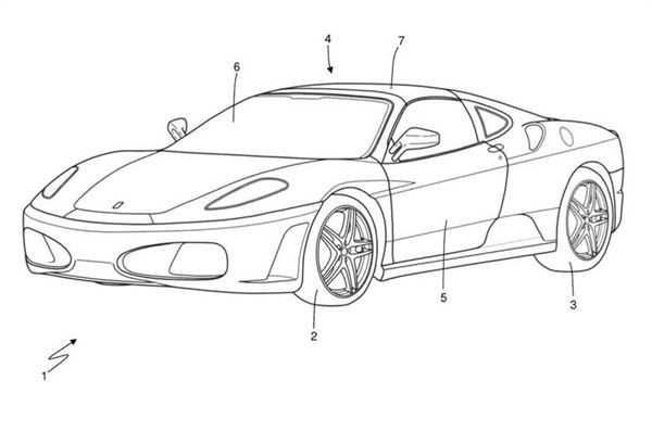 Ferrari applies for Targa Top patent
