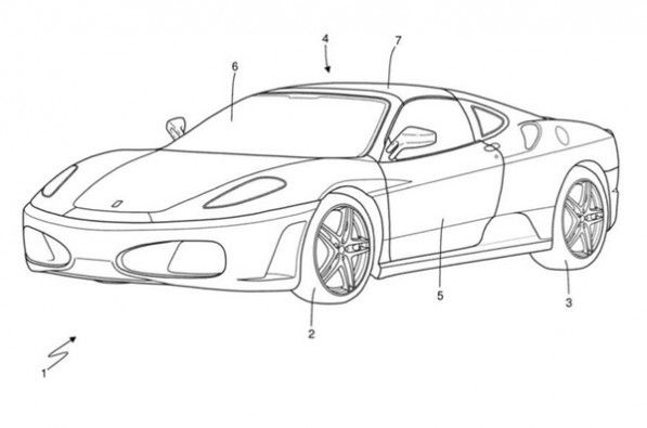 Ferrari applies for Targa Top patent.