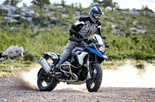 Details of BMW's R 1250 GS surface.