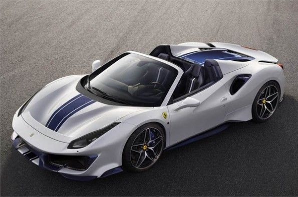 Ferrari showcases 488 Pista Spider at Pebble Beach.