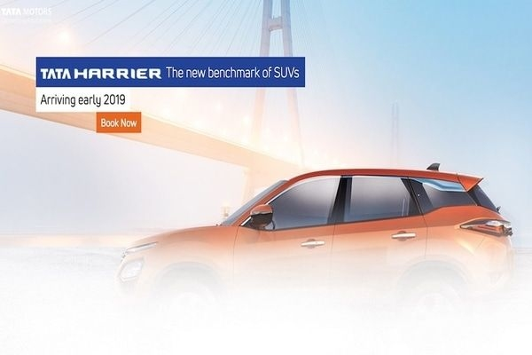 Tata Harrier Bookings Open For Rs. 30,000/-