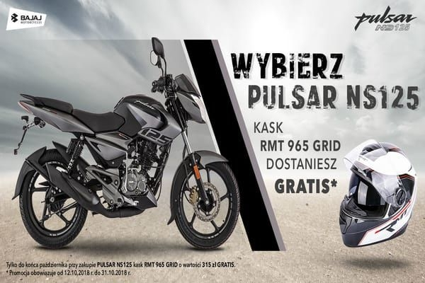 Free Helmet With Bajaj Pulsar NS125 In Poland