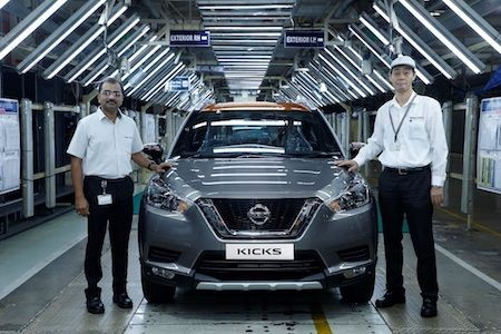 Nissan Kicks Production Begins In India
