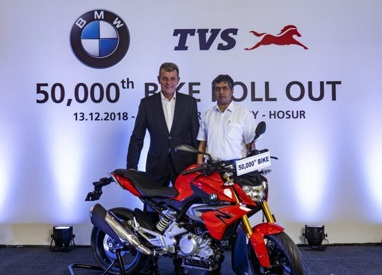 TVS BMW Roll Out 50,000 Units Of 310cc Motorcycles