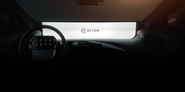 Byton To Showcase Steering Mounted Tablet