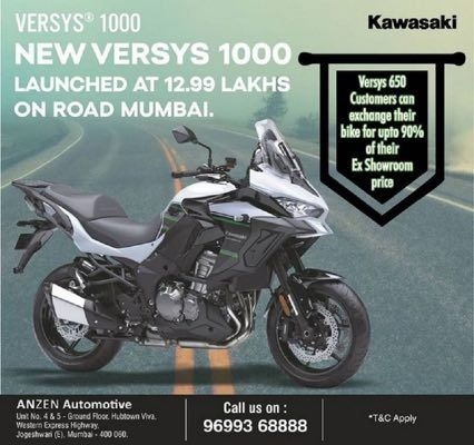 Kawasaki Versys 1000 Being Offered With Big Discounts