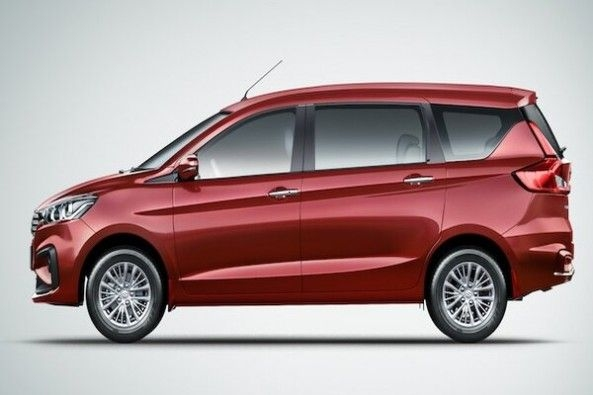 Red Color Maruti Suzuki Ertiga Side Profile