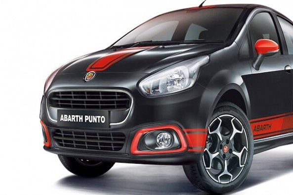 Blac and Red Fiat Abarth Punto