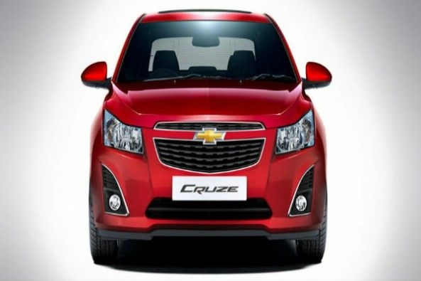 Red Color Chevrolet Cruze Front Profile