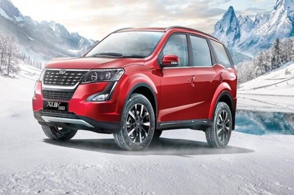 Red Color Mahindra XUV500 Front Profile