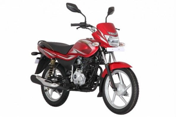 Red Color Bajaj Platina Front Profile