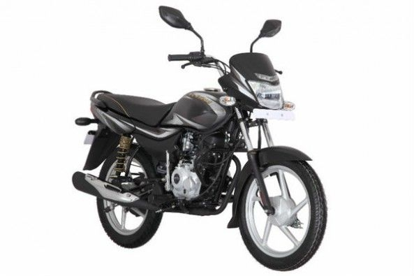 Black Color Bajaj Platina Front Profile