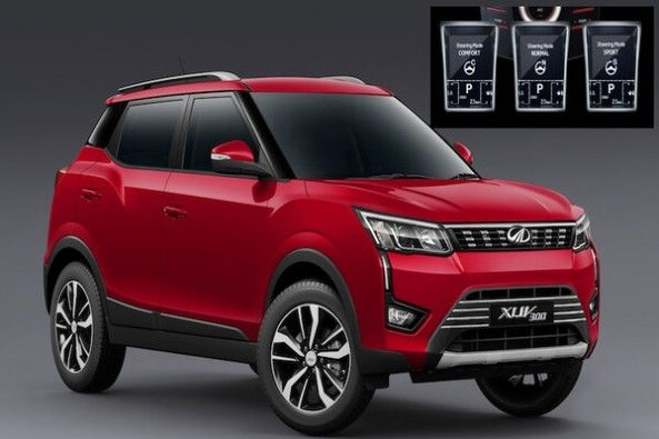 Red Color Mahindra XUV Front Profile