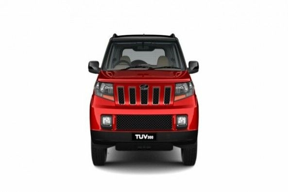 Red Color Mahindra TUV300 Front Profile