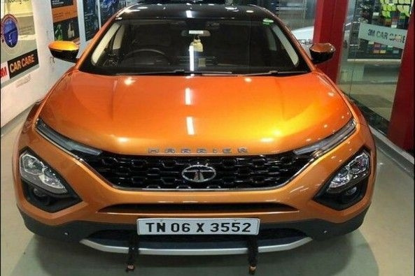 Copper Color Tata Harrier SUV Front Profile