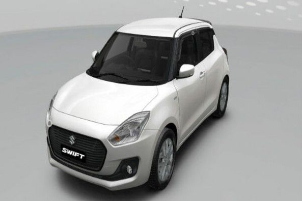 White Color Maruti Suzuki Swift Top Profile