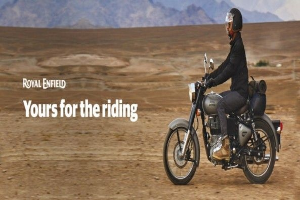 Royal Enfield Classic 350 Side Profile With Rider