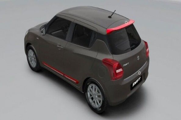 Black Color Maruti Suzuki Swift Rear Profile