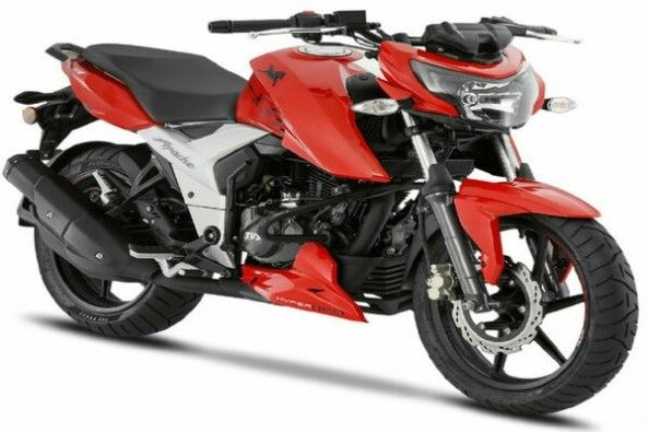 Red Color TVS Apache RTR 160 Side Profile