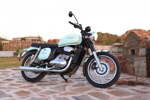 White Color Jawa Motorcycles Side Profile