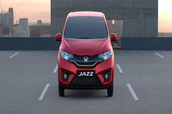 Red Color Honda Jazz Front Profile