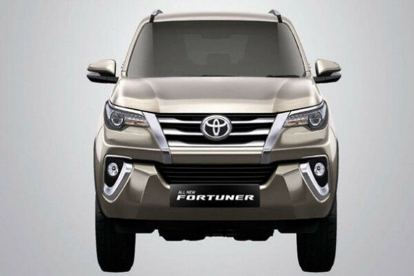 Grey Toyota Fortuner Front Profile