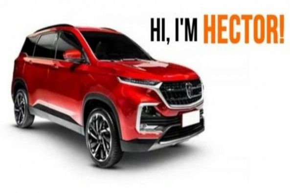 Red Color MH Hector SUV Side Profile