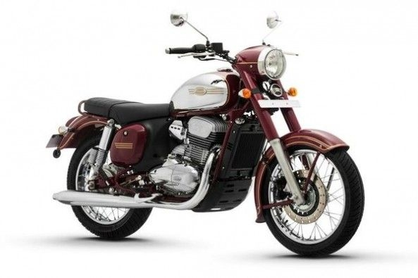 Brown Color Jawa Motorcycles Side Profile